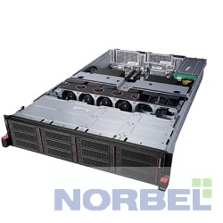 Lenovo ������ ThinkServer RD640 E5-2670v2 2.5Ghz 10C, 8GB 1x8GB DR 1600MHz DIMM, no HDD up to 16x2.5 , RAID710 1GB with CacheVault,