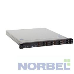 Lenovo Сервер 3633E3G TopSeller x3250M6 E3-1240v5 3.5Ghz 4C, 8GB 1x8GB 2133Mhz UDIMM, no HDD SAS SATA, up to 4x3.5 HotPlug , M1210