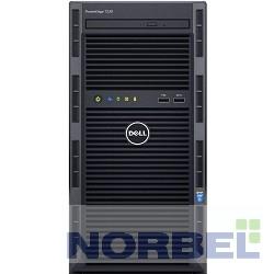 "Dell Сервер PowerEdge T130 1xE3-1230v5 1x16Gb 1RUD x4 1x1Tb 7.2K 3.5"" SATA RW H330 iD8Ex 5720 2P 1x290W 3Y NBD 210-AFFS-6"