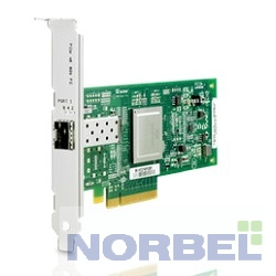 Hp �������� AK344A StorageWorks FCA 81Q 8Gb FC Host Bus Adapter PCI-E for Windows, Linux LC connector , incl
