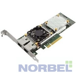 Dell Адаптер Broadcom 57810 DP 10Gb BT Converged Network Adapter, Low Profile 540-11152