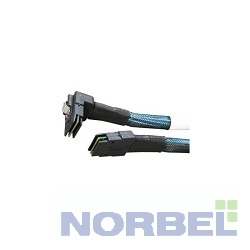 Intel Опция к серверу Cable kit AXXCBL770MSMR, Kit of 2 cables, 770mm length, straight SFF-8087 to right angle SFF-8087 connectors