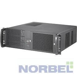 """Procase Корпус EM338F-B-0 Корпус 3U Rack server case,съемный фильтр, черный, без блока питания, глубина 380мм, MB 12""""x9.6"""""""